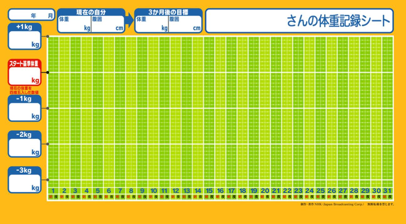 体重記録シート